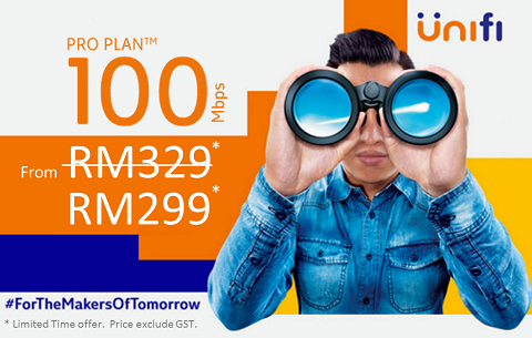 Unifi package 100Mbps promotion - unifi broadband